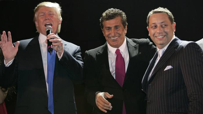 Donald Trump and Tevfik Arif attend the Trump Soho Launch Party on September 19, 2007 in New York. (Photo by Mark Von Holden/WireImage)
