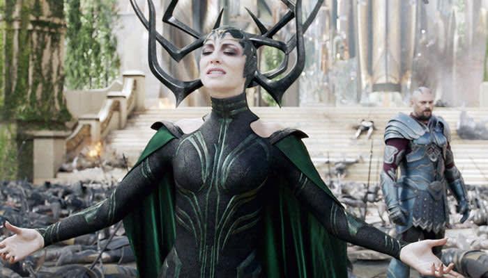 Blanchett as Hela in 'Thor: Ragnarok' (2017) © Walt Disney Studios Motion Pictures /Courtesy Everett Collection