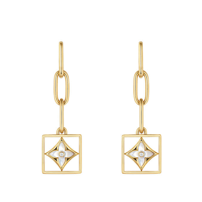 B Blossom earrings — Yellow and white gold, white mother of pearl and diamonds, €6,900