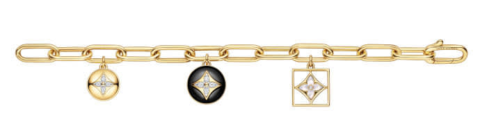 Louis Vuitton Fine Jewellery B Blossom bracelet — Yellow and white gold, onyx, white mother of pearl and diamonds, €14,000