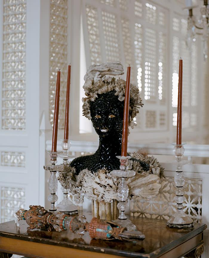Christian Louboutin at his Paris home (C) Ilyes Griyeb