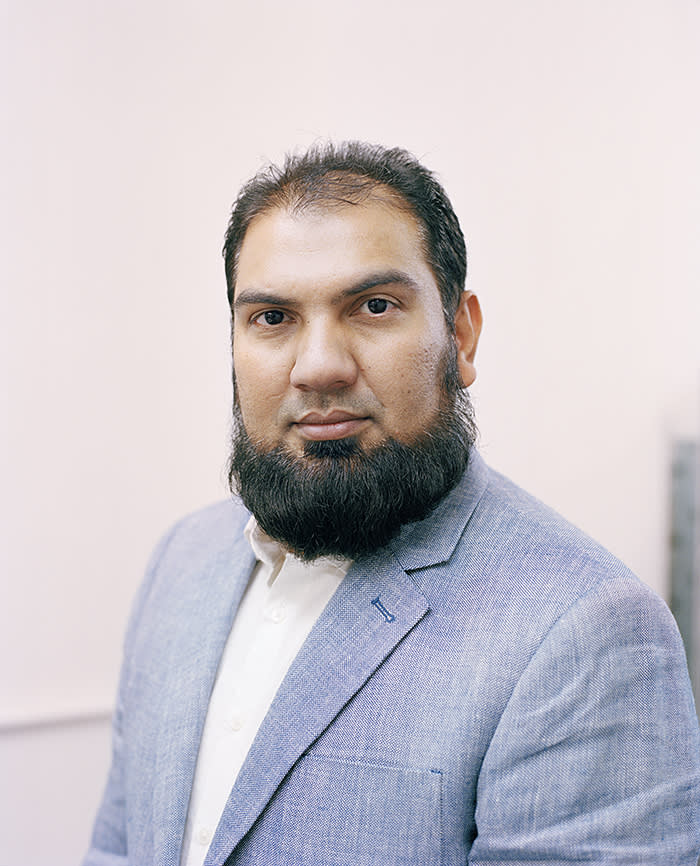 Saeed Khilji in his office in Leicester last month
