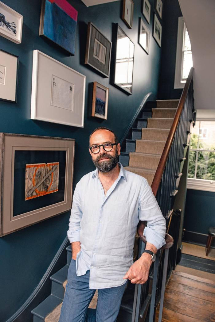 """""""Cooking and art go well together…"""" Pizarro with some of his art collection"""