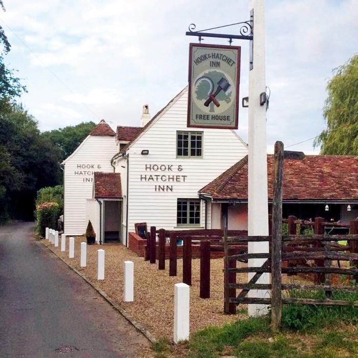 The Hook & Hatchet pub at Hucking, near Maidstone, Kent