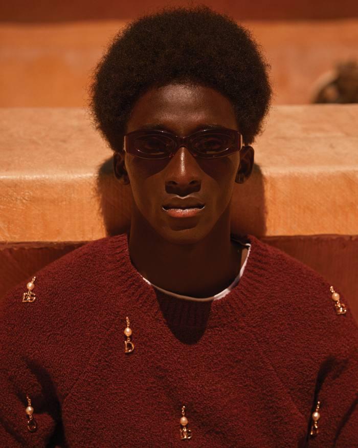 Dolce & Gabbana cashmere jumper, £1,900. Petit Bateau cotton T-shirt (just seen), £17. Port Tanger acetate Crepuscolo sunglasses, £230