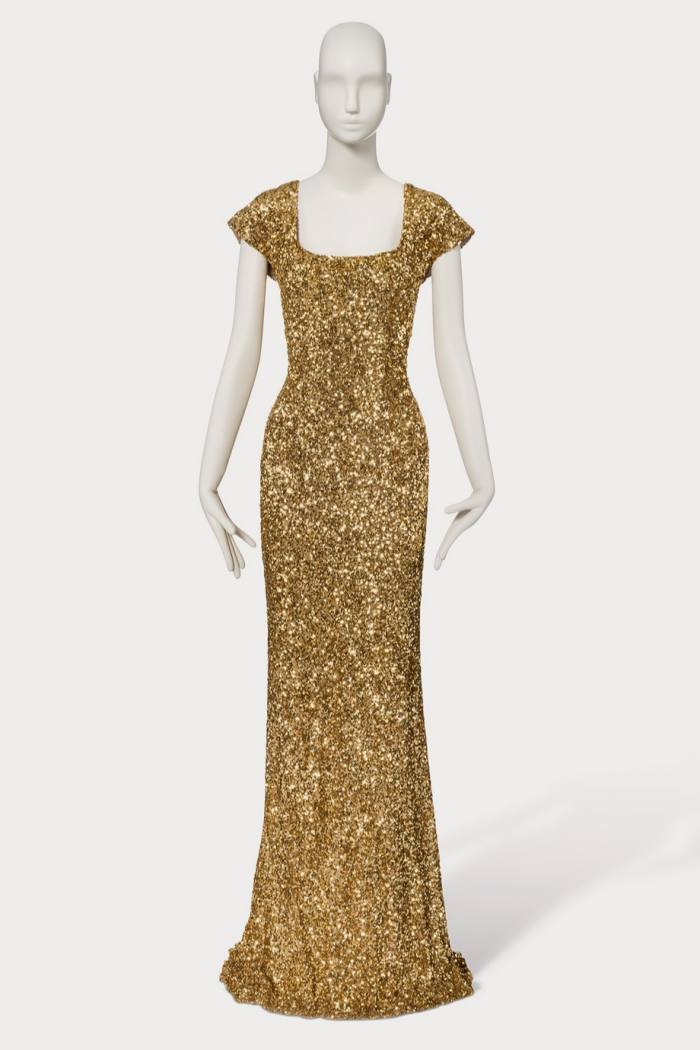 The gold sequined gown worn by Penélope Cruz, from L'Wren Scott's 'Beau Monde' collection