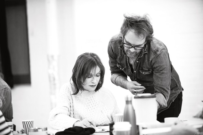 Isabelle Huppert and Florian Zeller in rehearsalsfor The Mother in January 2019