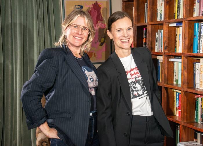 Jo Ellison with Fiona Golfar