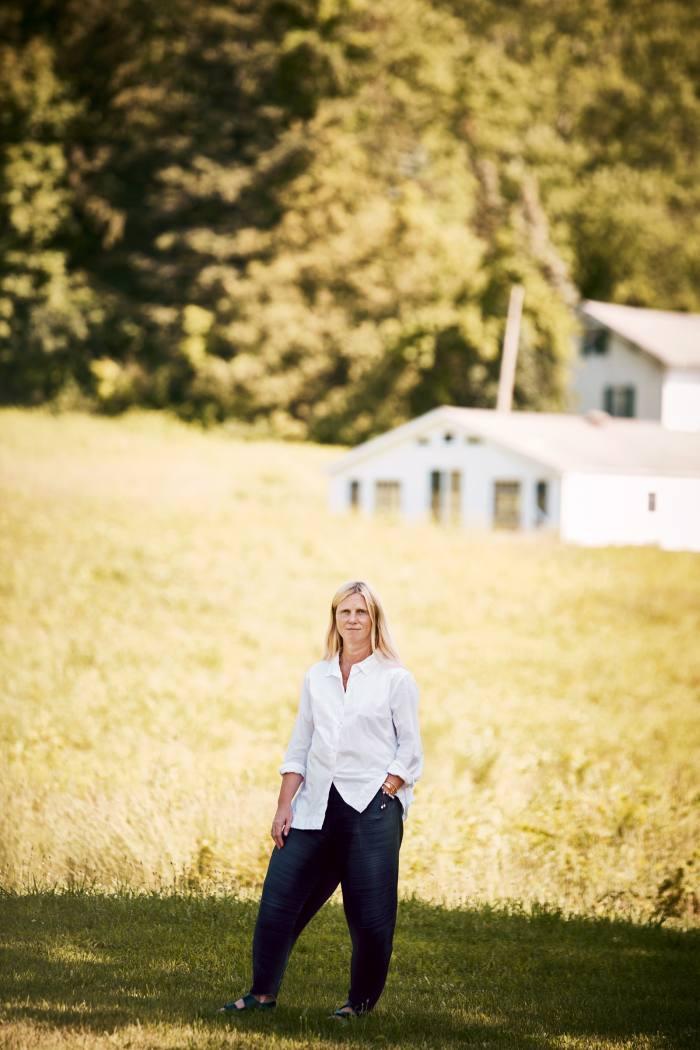 British fashion designer Katie Hillier at home in Hudson