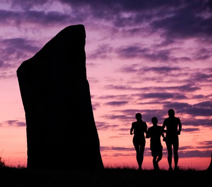 Race to the Stones' finish line at Avebury stone circle
