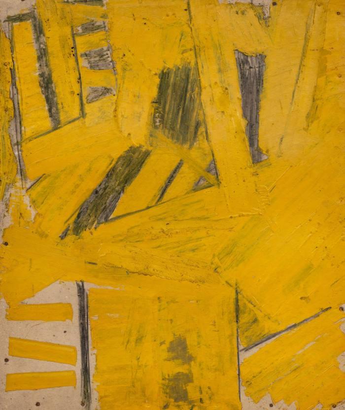 Painting on Cardboard, c1958, by Gustav Metzger