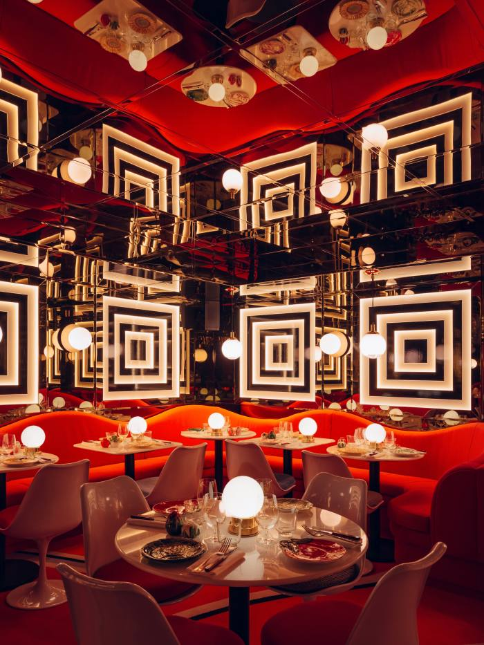 The menu is as OTT as the decor at Ave Mario in Covent Garden
