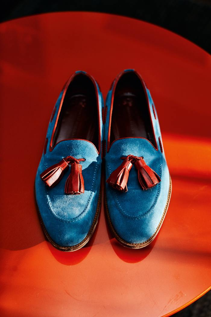 Gordon recently bought these Manolo Blahnik tasselled loafers