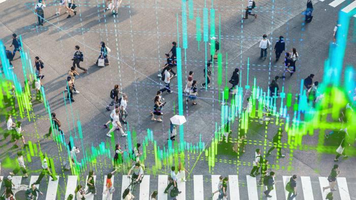 People crossing the Shibuya walk crossing