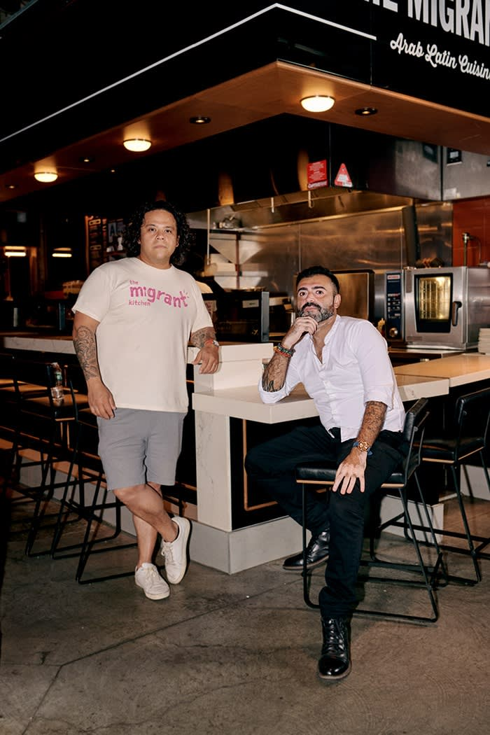 Migrant Kitchen was founded by Dan Dorado, left, and Nasser Jaber