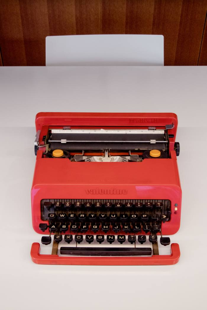 His typewriter by Ettore Sottsass