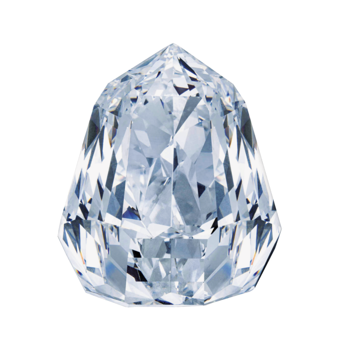 Shield-shaped 100ct diamond, sold at Christie's geneva for £4.7M