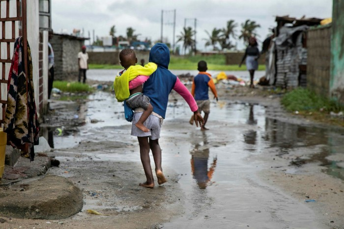 Water levels rise in Beira, Mozambique, ahead of the arrival of Cyclone Eloise in January