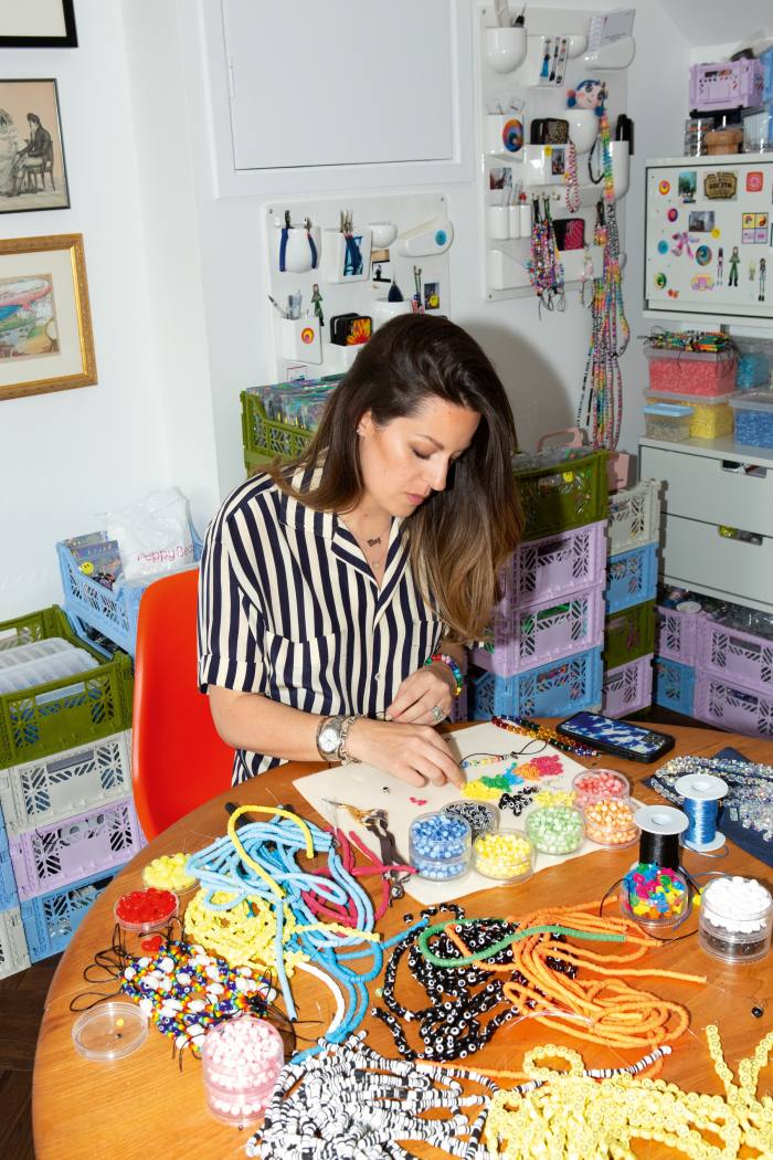Rachel Steed-Middleton, founder of String Ting, in her London home and workshop