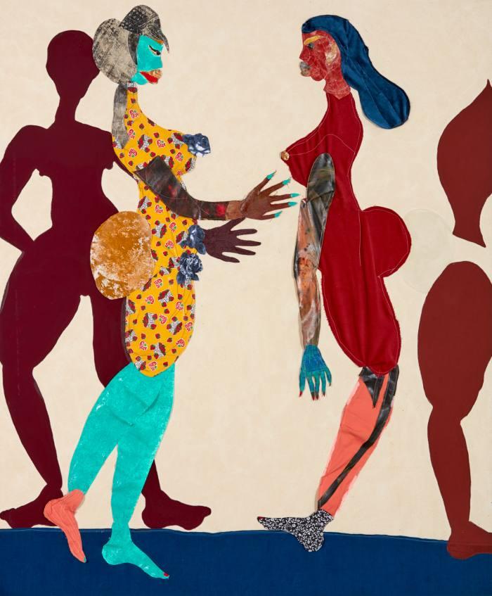 Out of Body, 2015, by Tschabalala Self