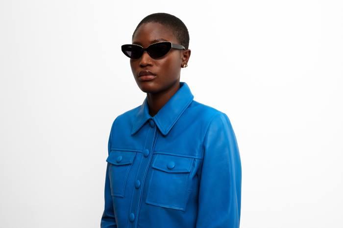 Kimeze diamante-trim cat-eye sunglasses, £285