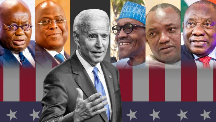 Joe Biden stands in front of African leaders. The US stands to gain if its president can forge a better relationship with key allies in Africa
