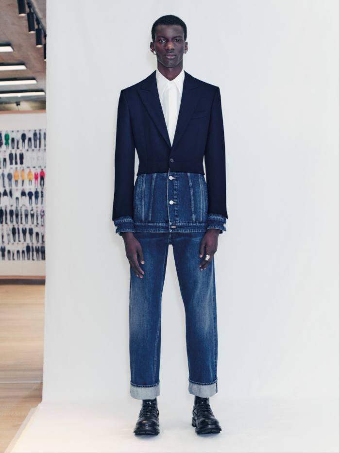 Alexander McQueen hybrid denim jacket, £2,450