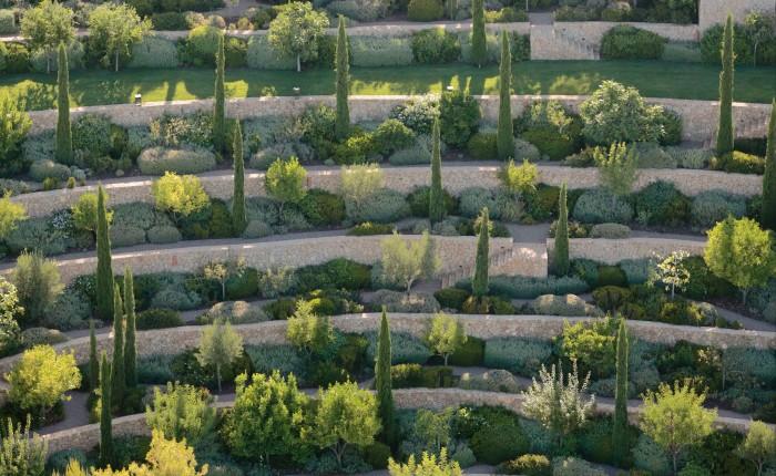 Terraced gardens at the Casa del Agua, Greece