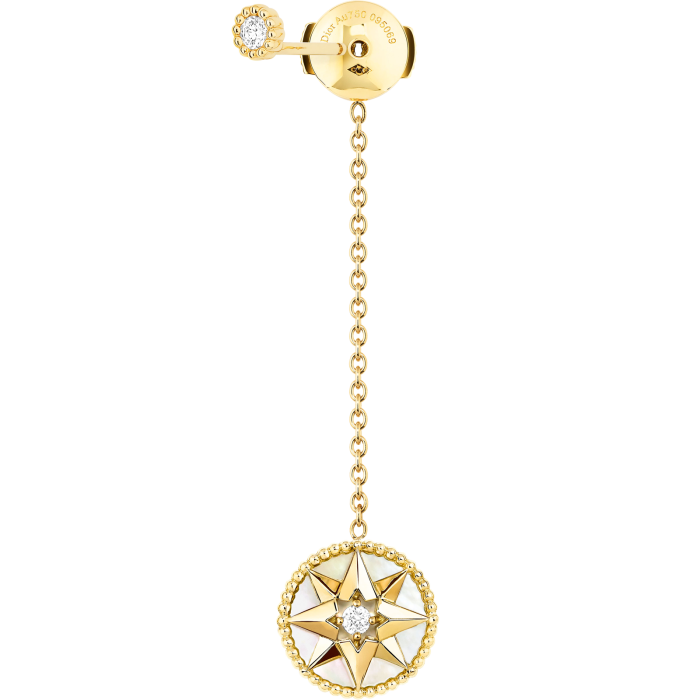 Dior Joaillerie gold, diamond and mother-of-pearl Rose des Vents single earring, £1,700