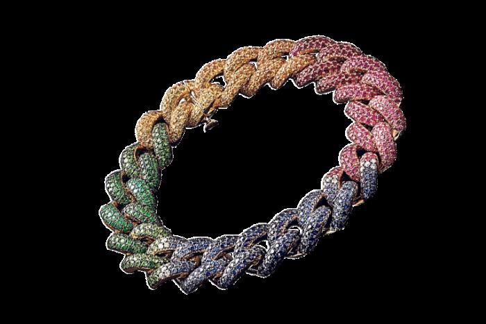 a rainbow bracelet