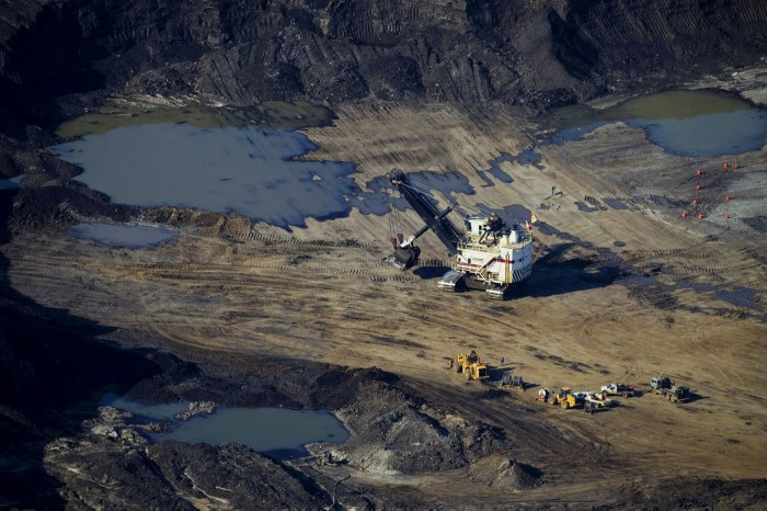 Extracting crude from Alberta's oil sands is highly energy-intensive