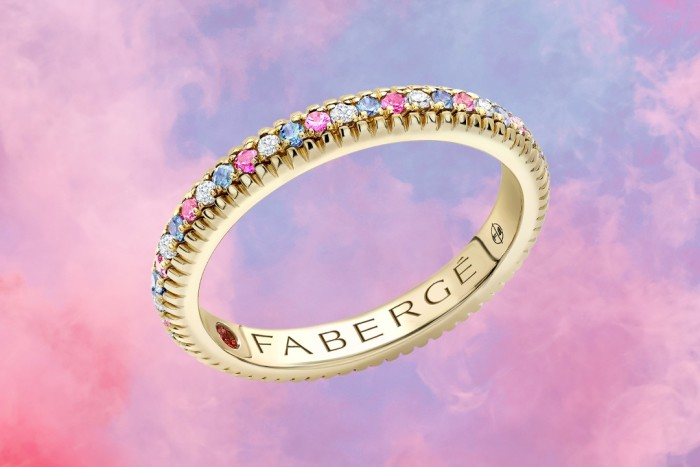 Fabergé gold, diamond and sapphire Colours of Love ring, £2,520