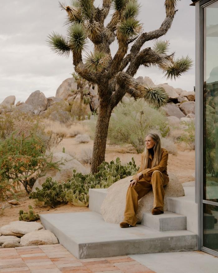 Liza Lou at home in Joshua Tree, California