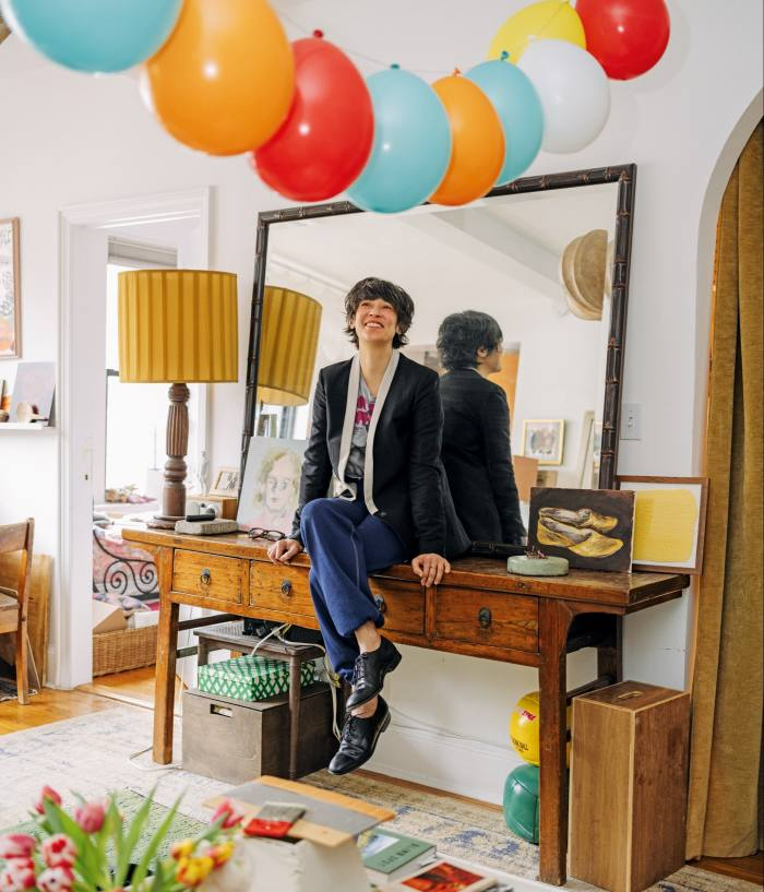 Leanne Shapton at home in Greenwich Village, New York