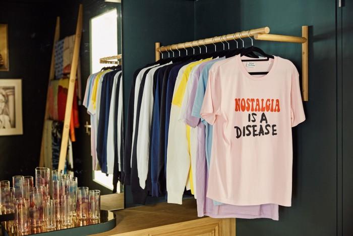 "Scott King ""Nostalgia is a disease"" T-shirt, £55"