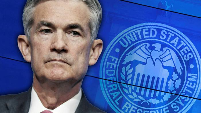 FT montage of Federal Reserve and its chair Jay Powell