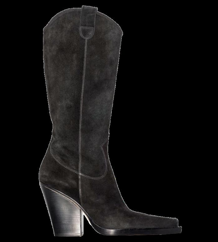 Paris Texas suede Vegas boots, £560, brownsfashion.com