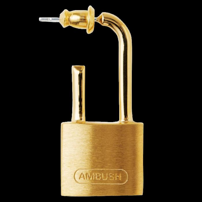 Ambush silver Small Padlock earring in gold, £210