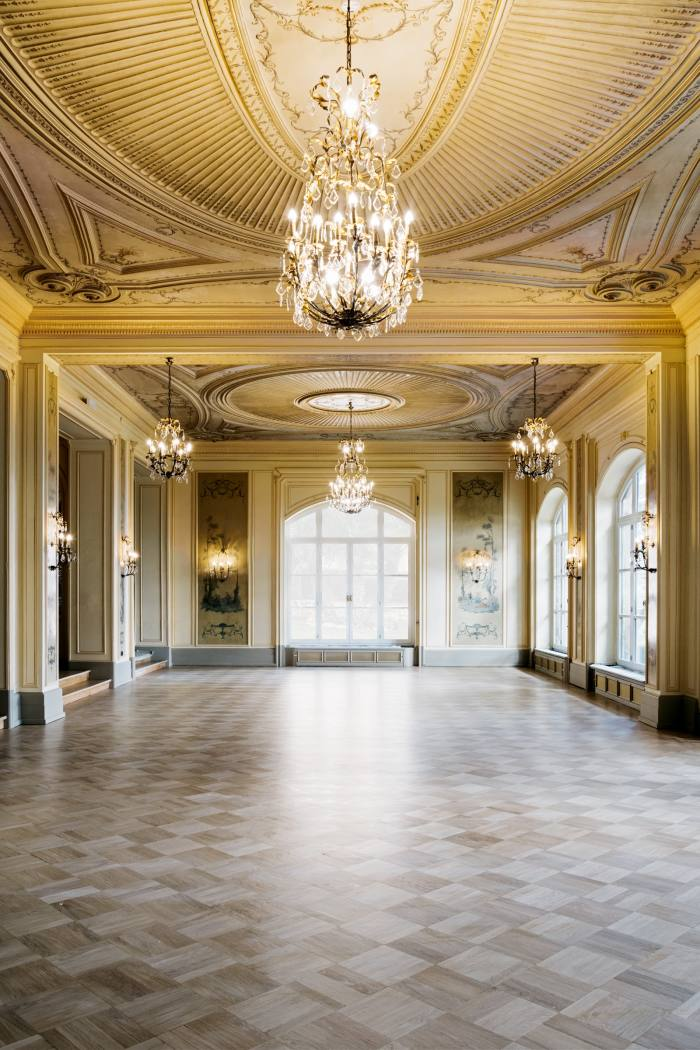 The salon, restored to its Belle Epoque glory