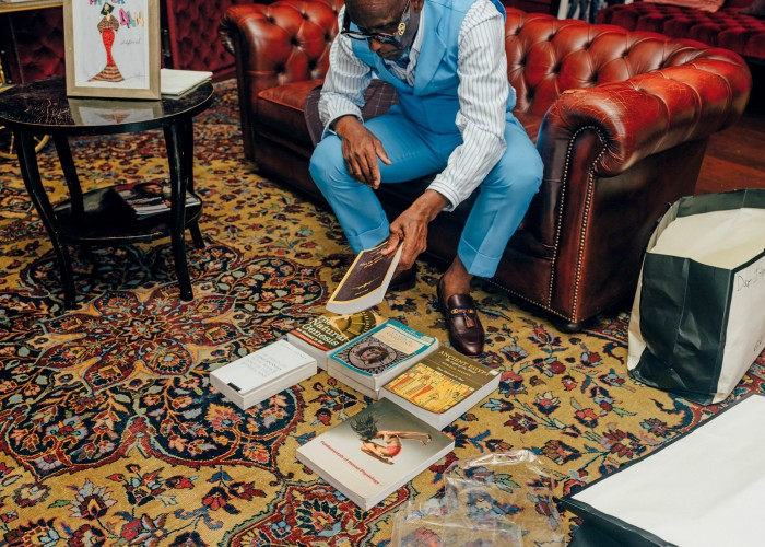 """Books from Dapper Dan's """"esoteric collection"""", including Man: the Grand Symbol of the Mysteries, by Manly P Hall"""