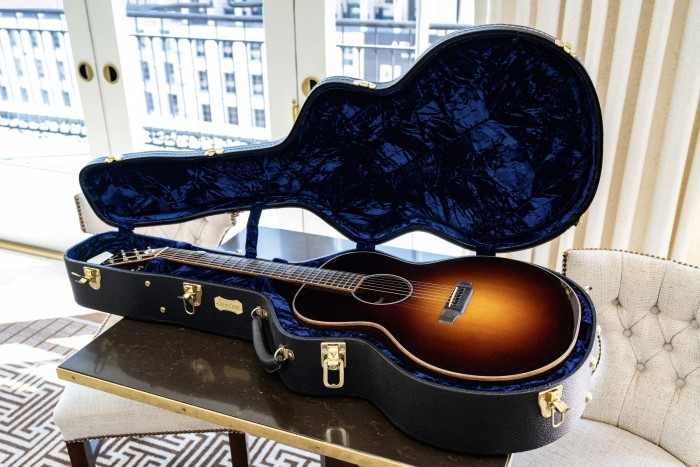 Tapper's acoustic guitar given to him by Jimmy Kimmel
