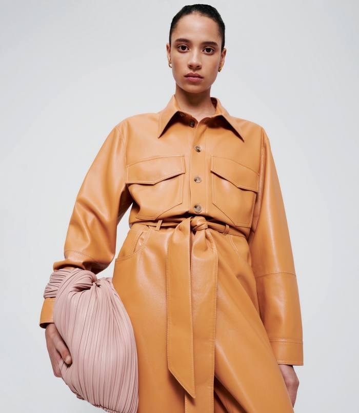 Nanushka vegan leather Ashton jumpsuit, £575