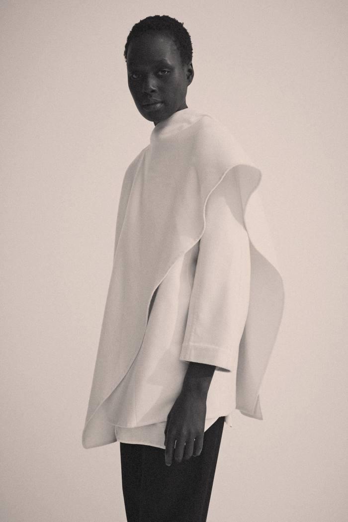 A Hermès cashmere wrap coat, $3,998