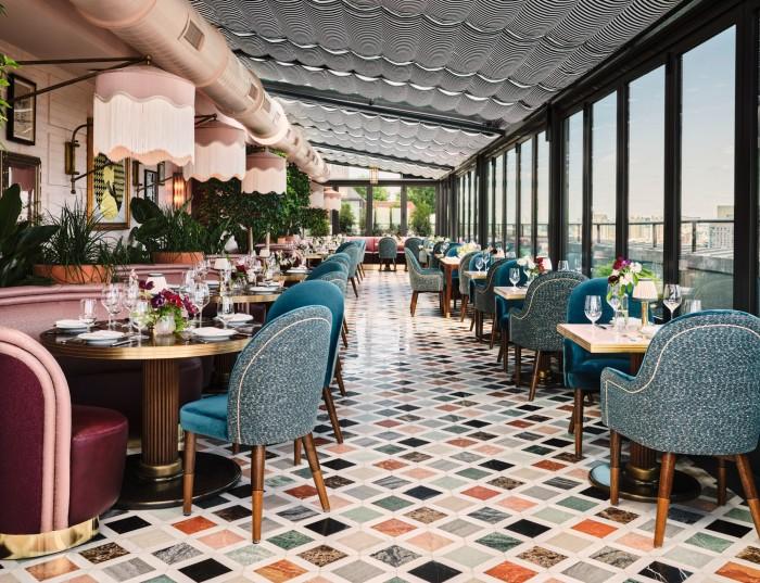 Contessa, The Newbury's rooftop bar and restaurant