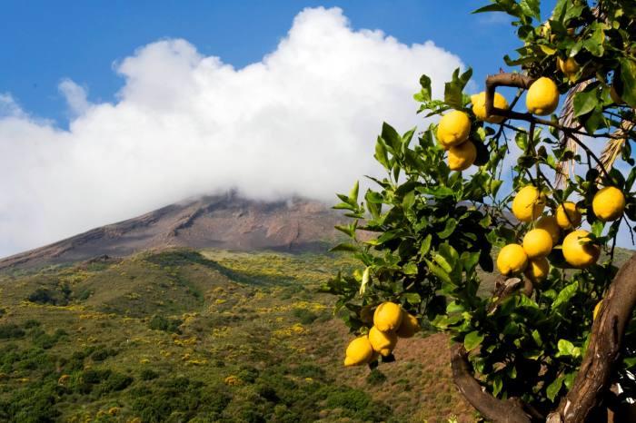 The Stromboli volcano, off the coast of Sicily