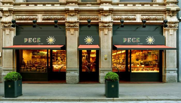 Milanese glamour inside and out at Peck