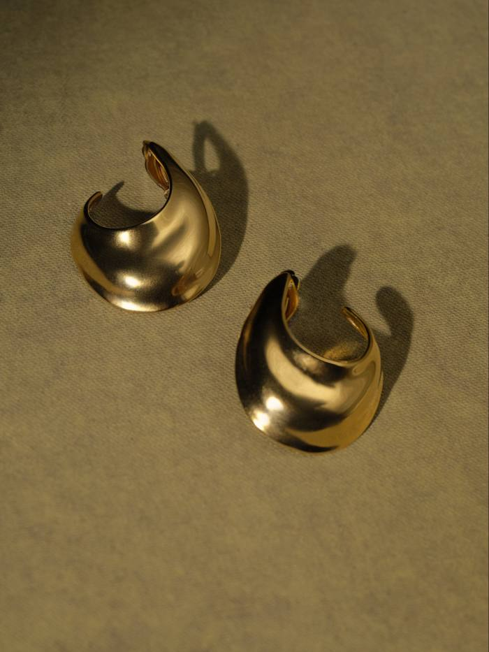 By Pariah recycled silver and 14ct-recycled-gold-plated Sabine Hoops