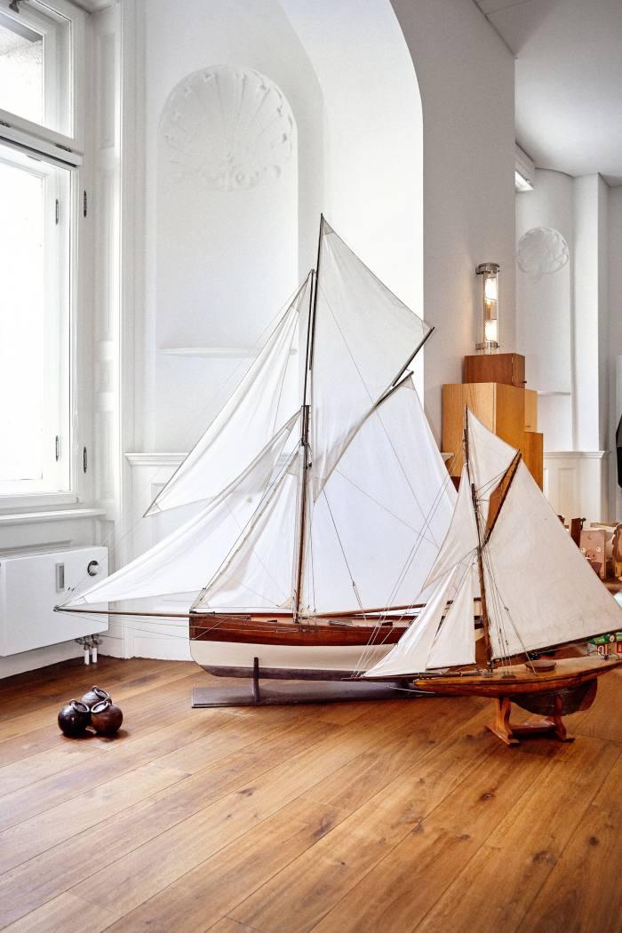 Reichert's vintagehandmade model boats – souvenirs from St Malo