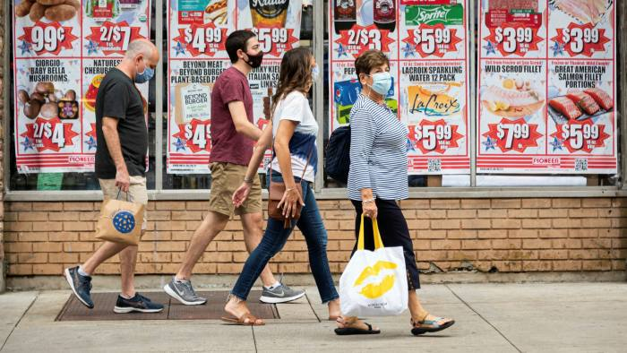 Retail choice: shoppers in New York take to the streets