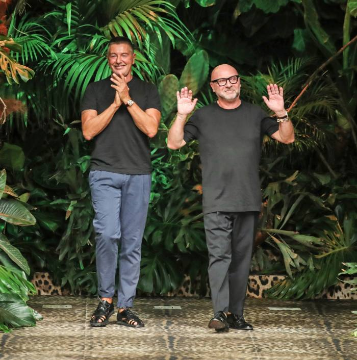 Stefano Gabbana and Domenico Dolce continued to work with each other after they split up
